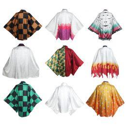 เสื้อคลุมนักล่าอสูร ดาบพิฆาตอสูร ผ้าจีน